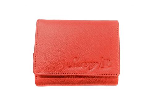 牛革三つ折りミニ財布(オレンジ)