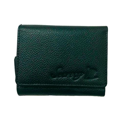牛革三つ折りミニ財布(グリーン)