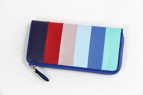 ストライプ長財布(ブルー)