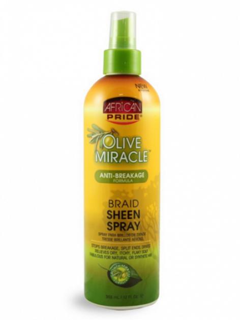 African Pride Olive Miracle Braid Sheen Spray - 12 oz.