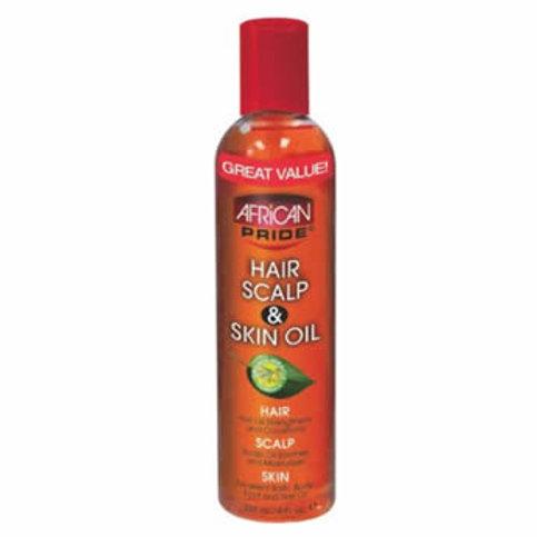 African Pride HAIR SCALP & SKIN OIL, 8 oz