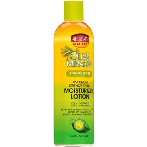 African Pride Olive Miracle Anti-Breakage Moisturizer Lotion 12 fl. oz.