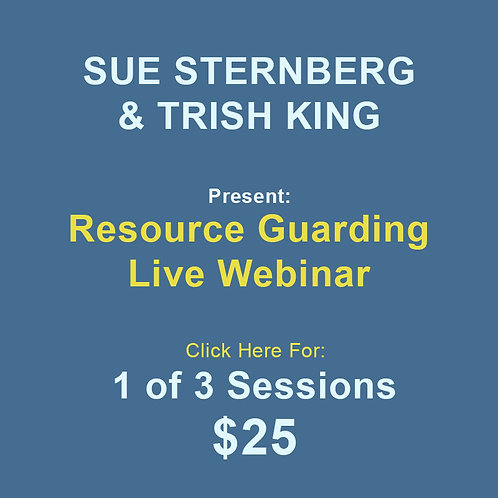 Sternberg/King: Resource Guarding 1 Session