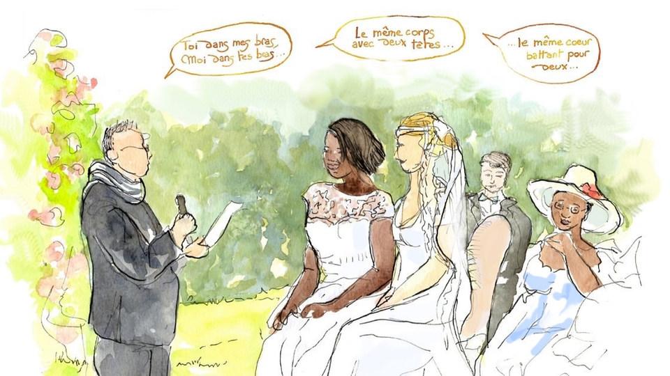 Croquis de mariage - cérémonie laïque
