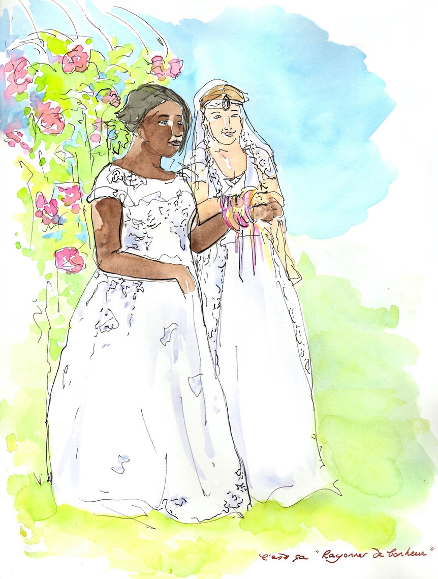 Rituel des rubans - Sandrine & Jessica