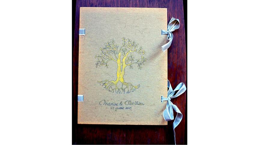 """Portfolio pour un mariage thème """"arbre de vie"""""""