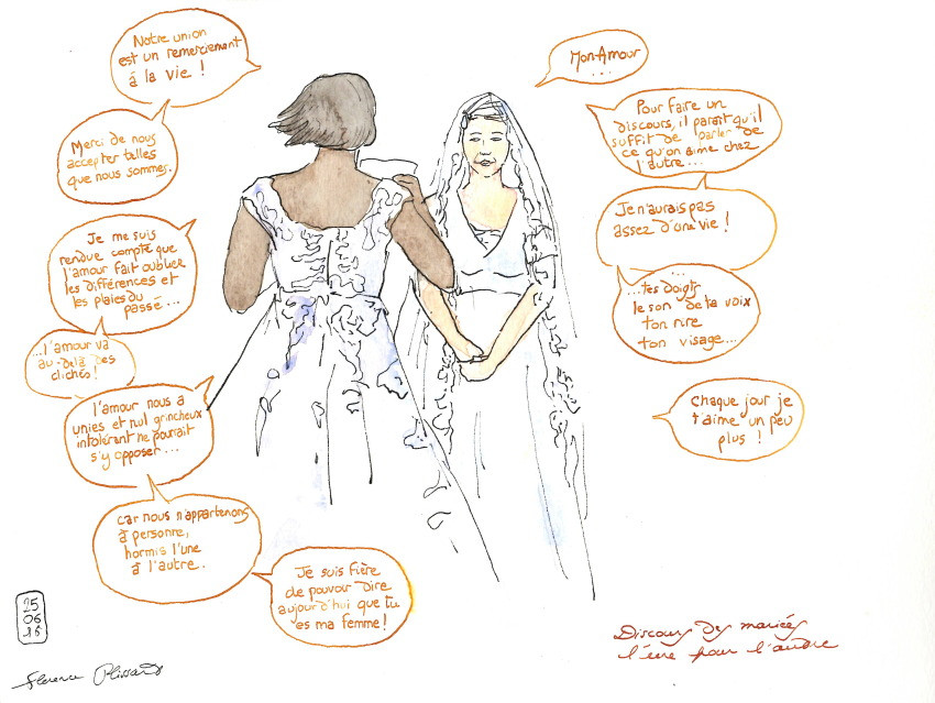 Voeux des mariées - Sandrine & Jessica