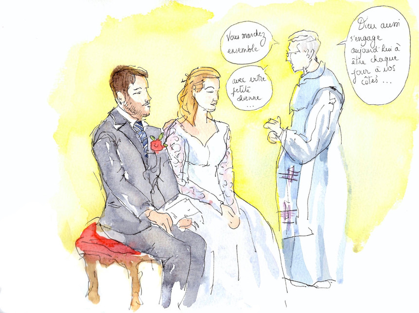 Mariage à l'église - Justine & Kevin