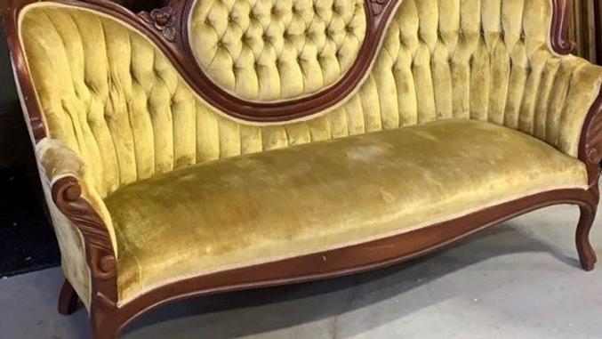 Vintage gold sofa