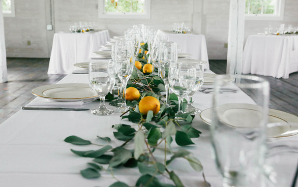 We're huge fans of greenery and produce to create a nice tuscany, romantic vibe.