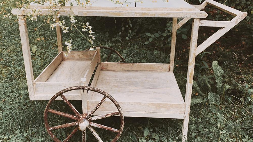 Antique tea cart