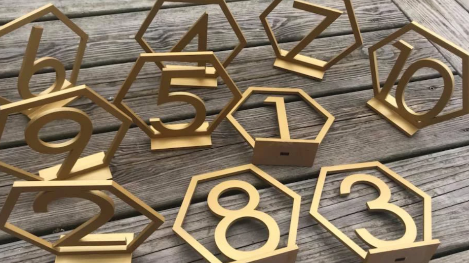 Octagon table numbers