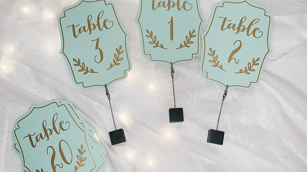 Paper table numbers