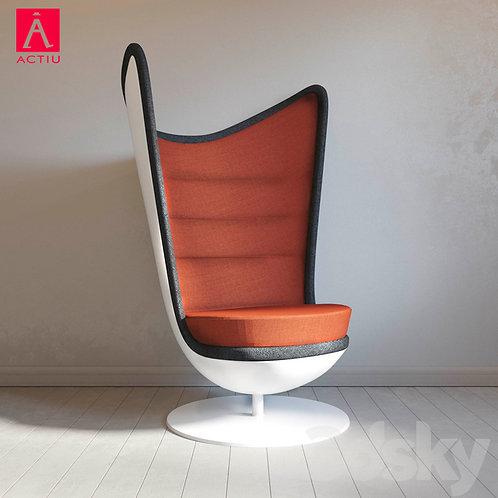 Fotel Actiu Badminton Orange
