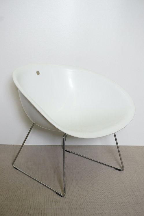Krzesło Pedrali Gliss 904 Chrome base White seat castors