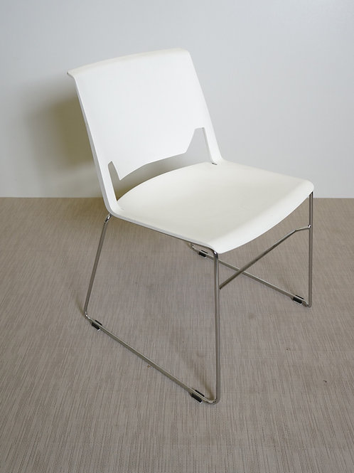 Haworth Very Wire Stacker Chair Without Arms (white)