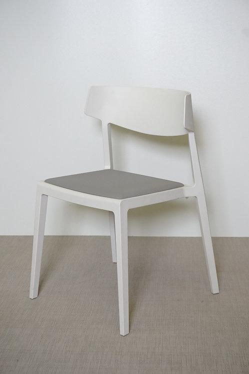 Krzesło Actiu Wing Grey base White seat