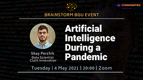 Artificial Intelligence During a Pandemic