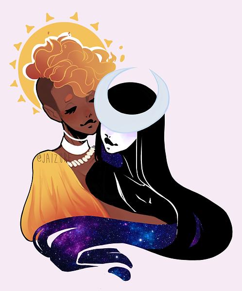 Sun and MoonSticker