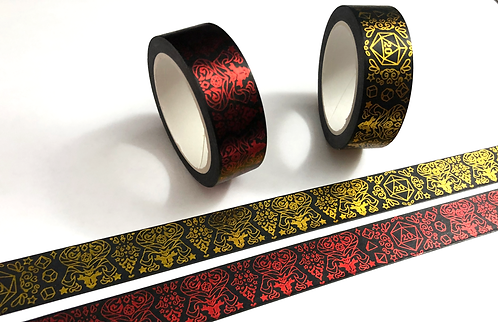 Dice and Dragons Washi Tape