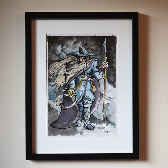 Odin Illustration - Watercolour and Ink