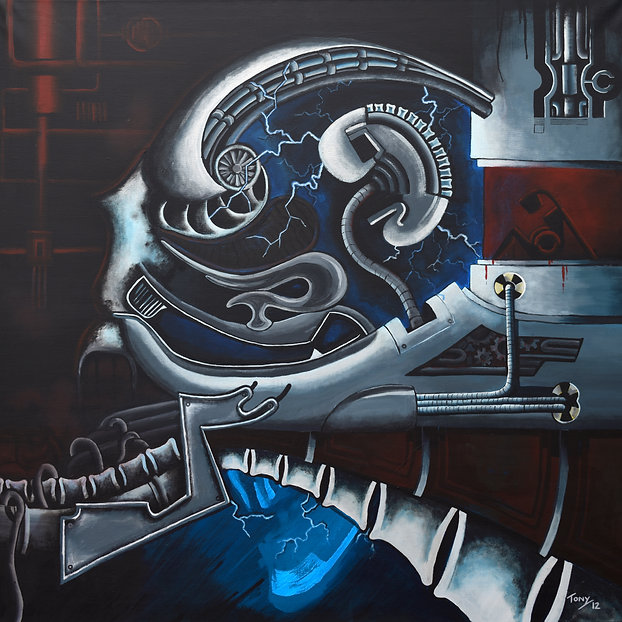 Internal Fears of Procreation Acrylic on Canvas Painting
