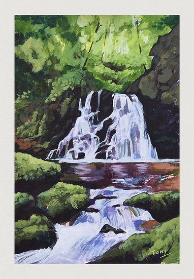Waterfall at the Fairy Glen - Open Edition Print
