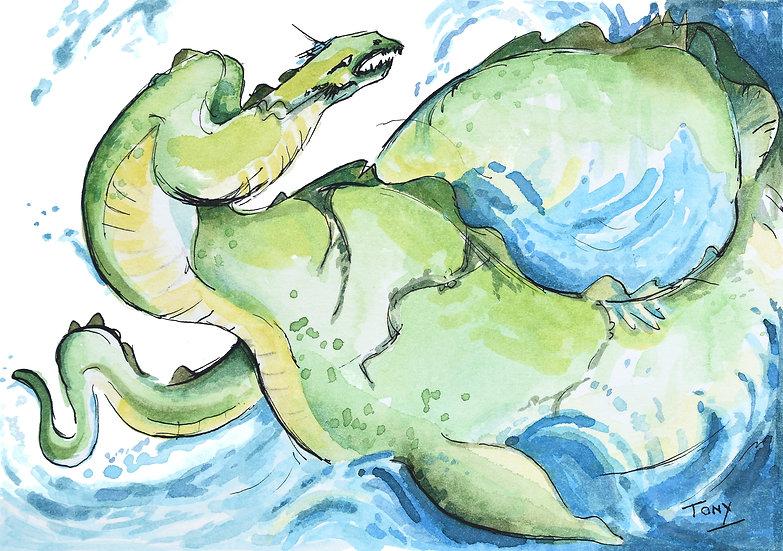 Loch Ness Monster - Open Edition Print