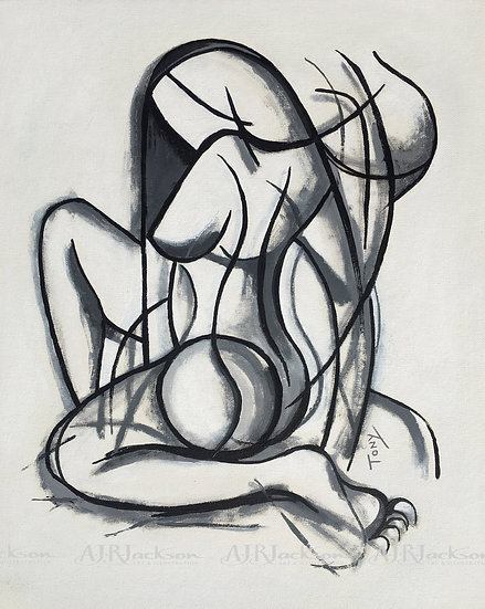 Female Form in Shades of Grey - Limited Edition Print (LARGE)