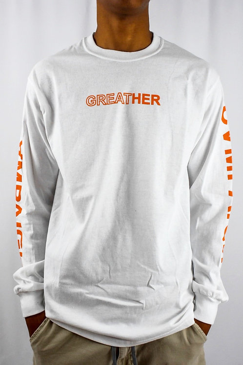"""Campaign """"GREATHER"""" LS, White"""