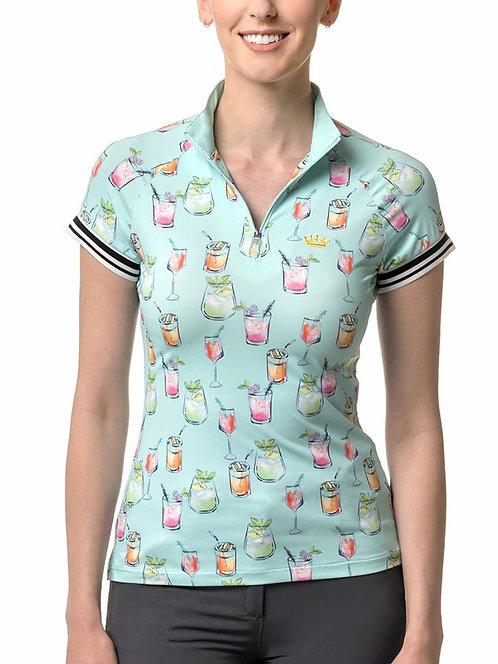 Kastel Denmark Cocktail Cap Sleeve Sun Shirt