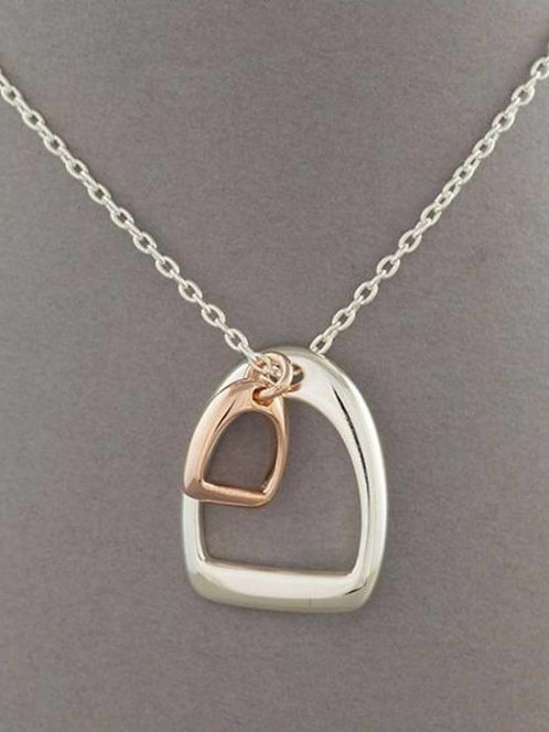 Awesome Artifacts Sterling Silver Stirrup Necklace