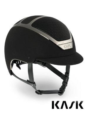 Kask equestrian helmet dogma chrome black silver