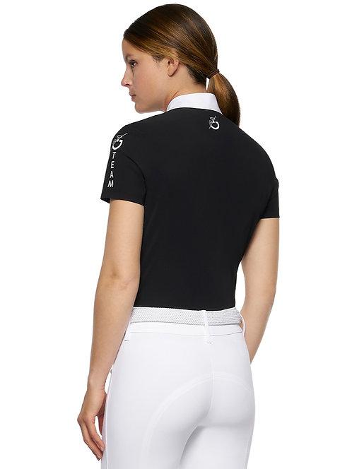Cavalleria Toscana Team Multi-Logo Short Sleeve Shirt