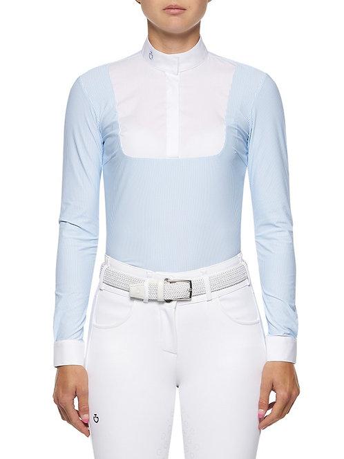 Cavalleria Toscana Poplin Bib Long Sleeve Competition Shirt