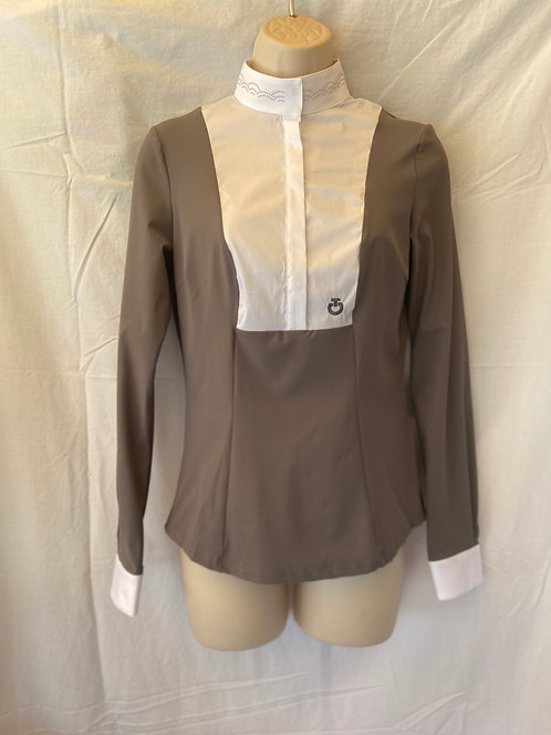 Cavalleria Toscana Scallop Competition Shirt LS