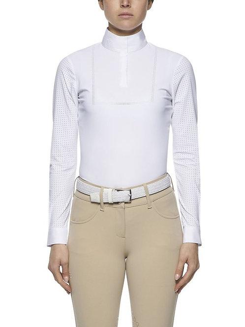 Cavalleria Toscana Jersey Perforated LS Show Shirt