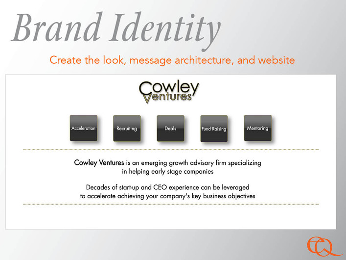 Developing Fresh Identity to Efficiently Deploy Brand