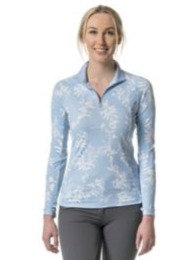 Kastel Denmark Blue Paisley Long Sleeve Sun Shirt