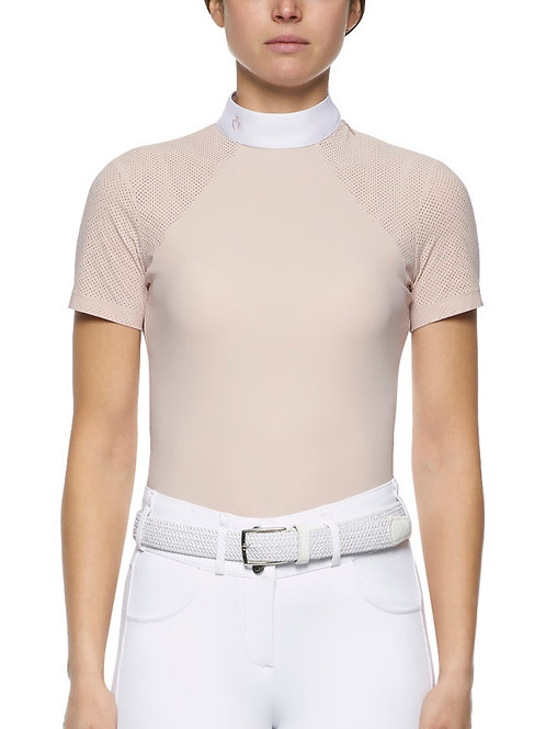 Cavalleria Toscana Jersey SS Side Zip Show Shirt
