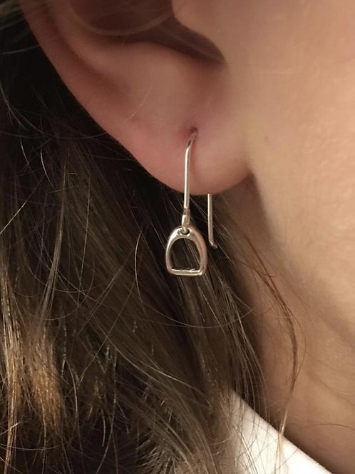 Awesome Artifacts Sterling Silver Stirrup Earrings