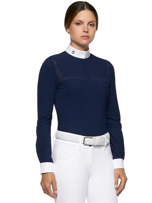 Cavalleria Toscana Perforated Jersey Long Sleeve Competition Shirt