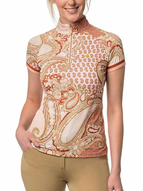 Kastel Denmark Blush Paisley Cap Sleeve Sun Shirt