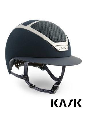 KASK riding helmet star lady navy silver wide brim helmet