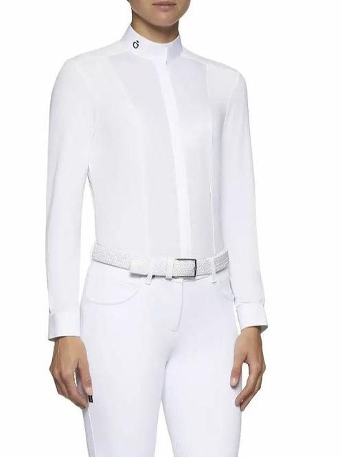 Cavalleria Toscana Stretch Poplin Bib and Micro Perforated Jersey LS Shirt