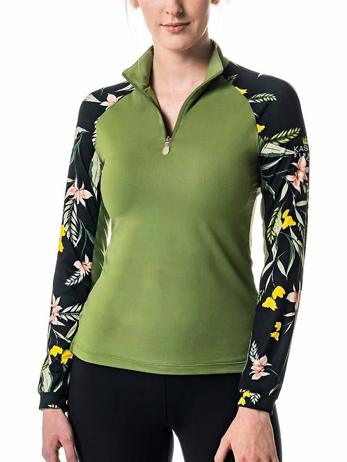 Kastel Denmark Green Tropical Long Sleeve Sun Shirt