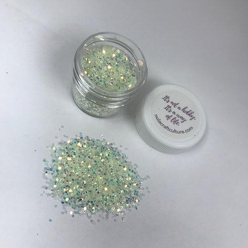 Glow in the Dark Opalescent Hex Confetti, 0.25 oz