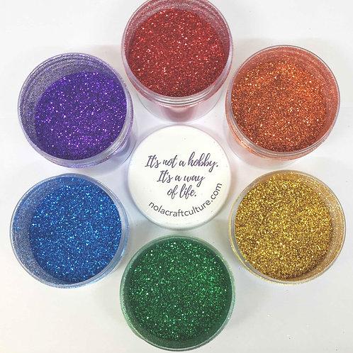 Rainbow Glitter Set, 6 x 1oz Jars