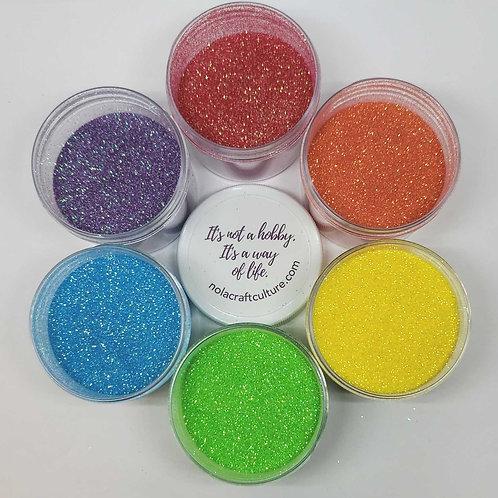 Rainbow Snoball Glitter Set, 6 x 1 oz