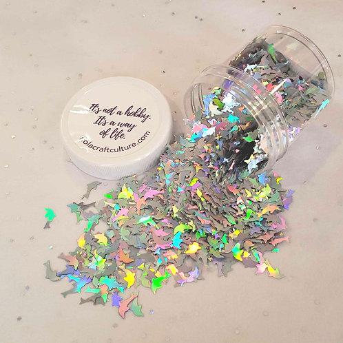 Dolphin HOLO Silver Confetti  0.5oz